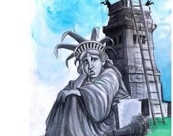 Take cover, Lady Liberty!