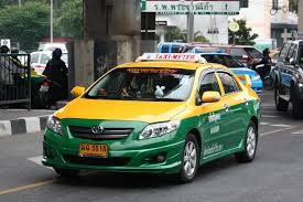 The ubiquitous Bangkok taxi.