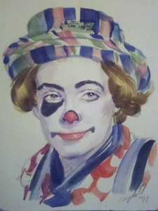 Tim Torkildson, as Dusty the Clown.  1971.